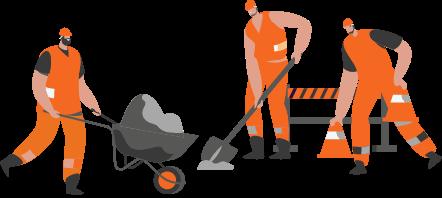 illustratie bouwvakkers